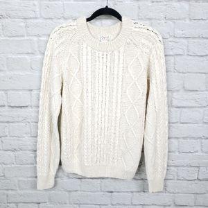 Vintage Orvis Chunky Knit Silk Fisherman's Sweater